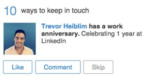 Collegamenti suggeriti su LinkedIn