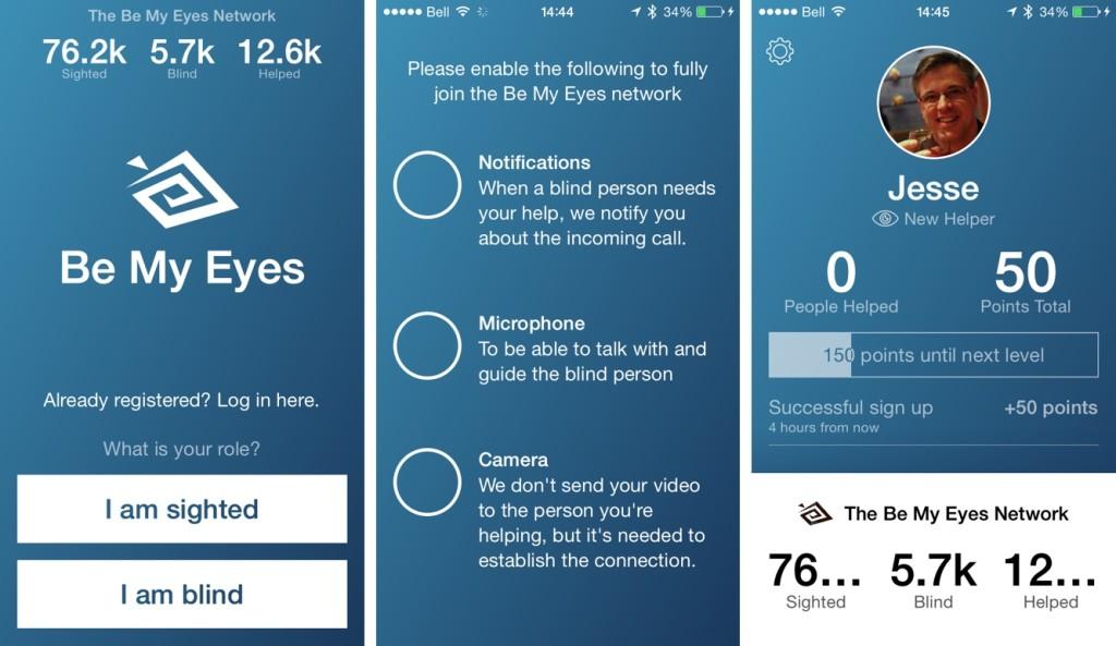 Be My Eyes - Anteprima app
