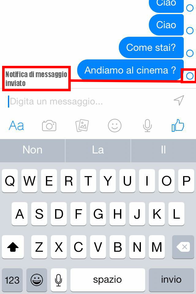 Notifica Messaggio Inviato - Facebook Messenger