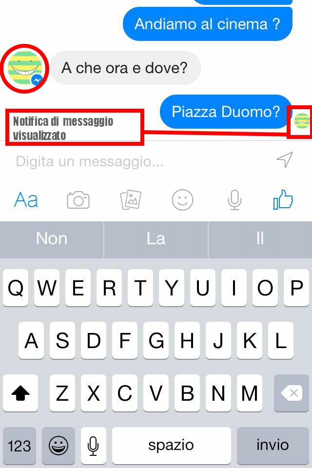 Notifica Messaggio Visualizzato - Facebook Messenger