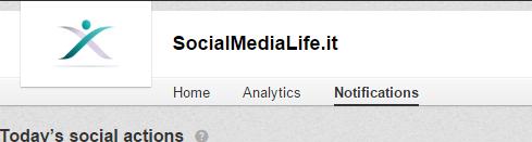 Pulsante Notifiche - Menù LinkedIn Company Page