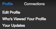 Nuovo profilo LinkedIn - I tuoi aggiornamenti