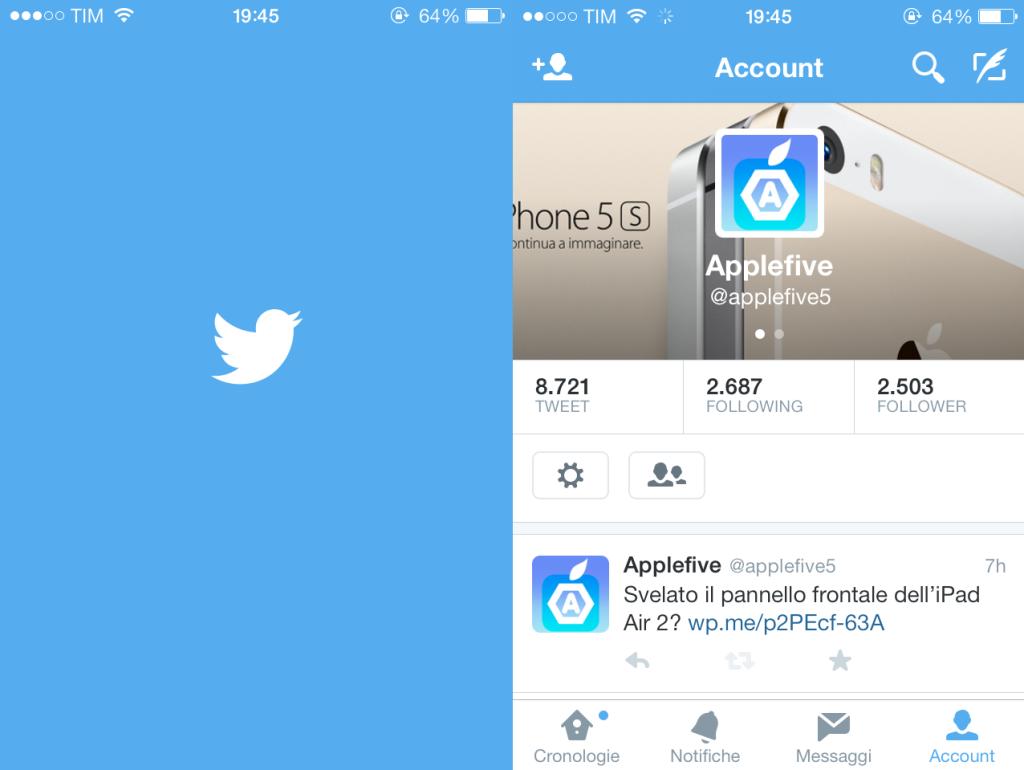 Twitter su iOS 8