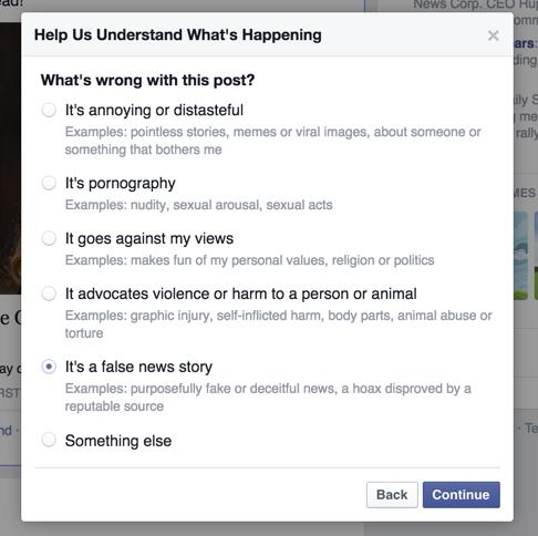 Opzioni News Feed Facebook