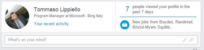 LinkedIn nuovo layout timeline - Notifiche Offerte Lavoro