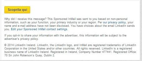 Sponsored InMail LinkedIn - Termini e Condizioni
