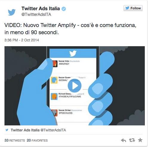 Twitter e Sky Italia lanciano Twitter Amplify per la Social TV