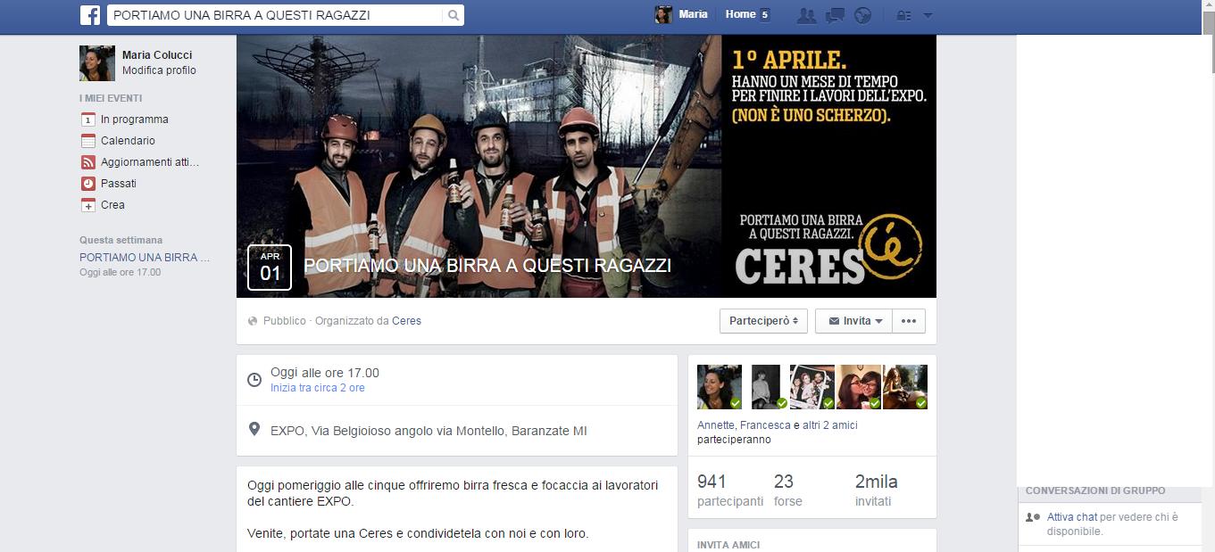 Gruppo Facebook PORTIAMO UNA BIRRA A QUESTI RAGAZZI