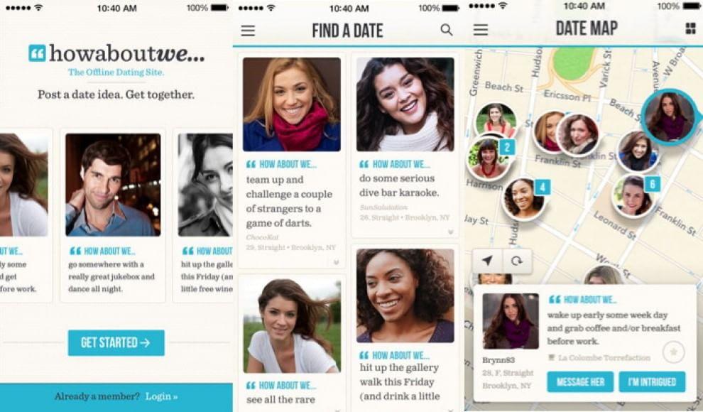 Home page di Bumble, app per incontri