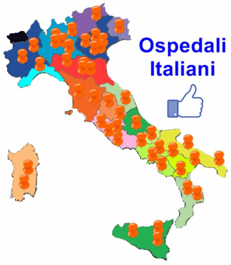 mappa ospedali italiani