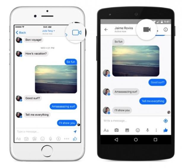 Videochiamate Facebook Messenger