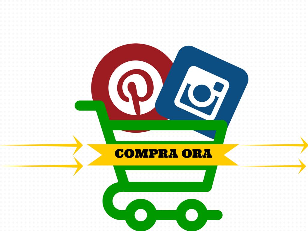 Instagram e Pinterest, tasto compra ora