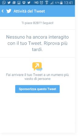 Sponsorizza il tweet - Guida Twitter Quick Promote
