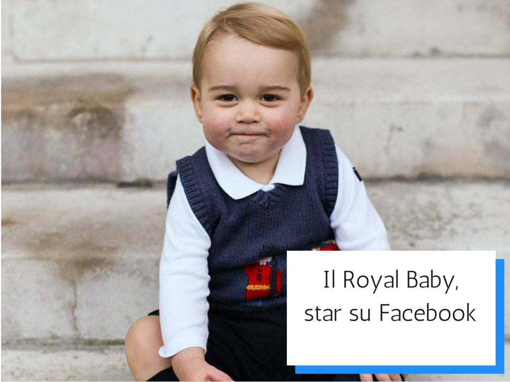 Photo of Il Royal Baby, star su Facebook