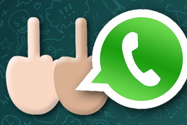 Whatsapp Dito Medio negli emoji
