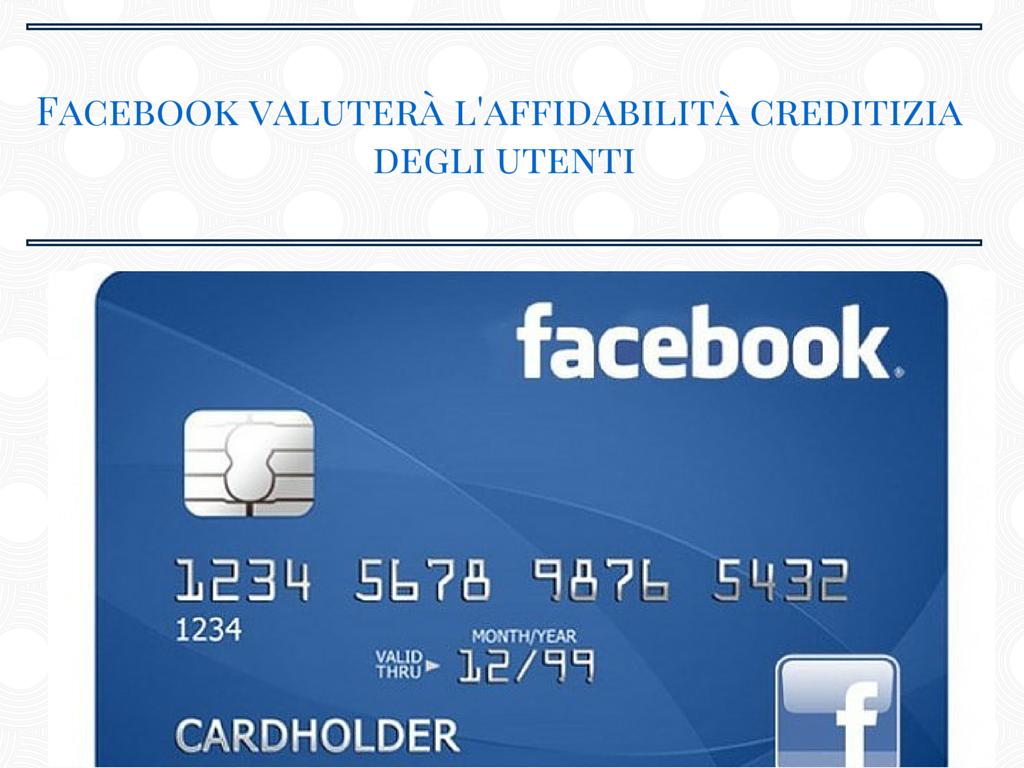 Photo of Facebook valuterà l'affidabilità creditizia