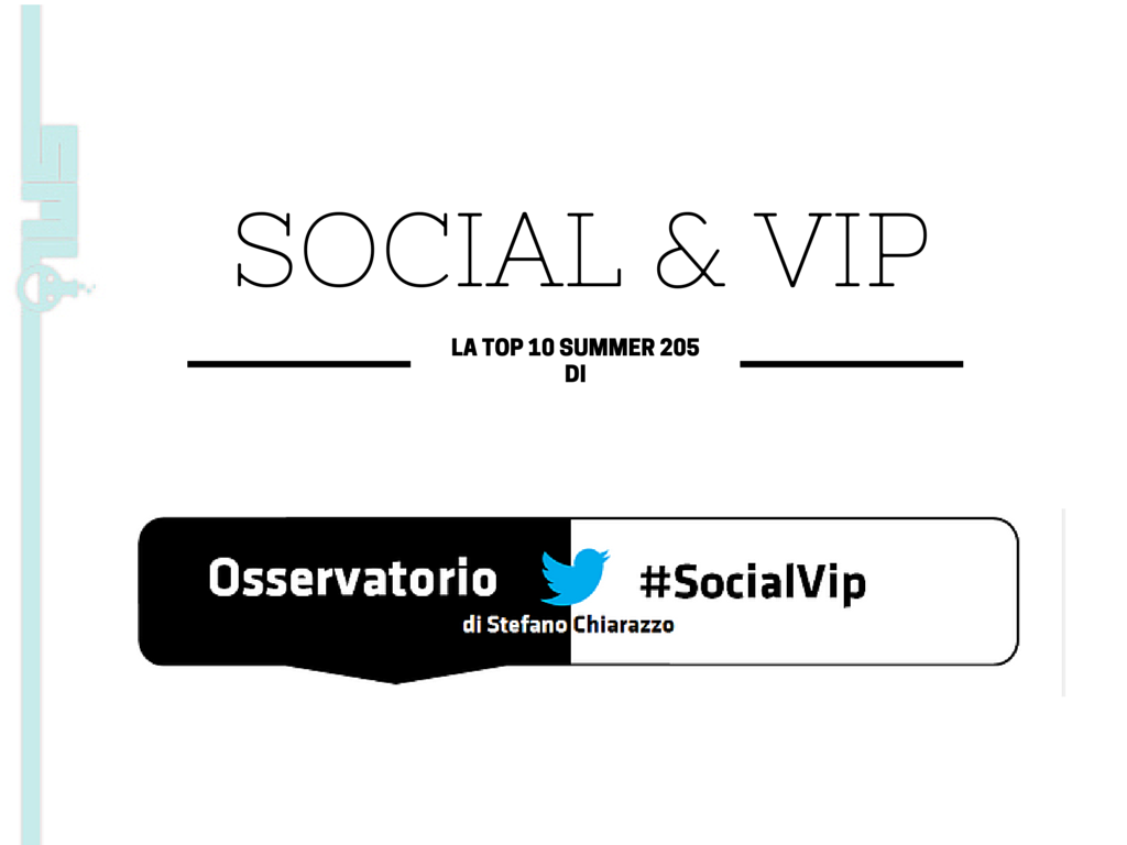Photo of Quali sono i VIP piú amati in Italia sui social nell'estate 2015?