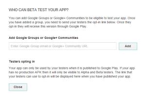 google grup googlrplus commuties beta test