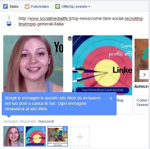 Facebook Seleziona Immagine Anteprima
