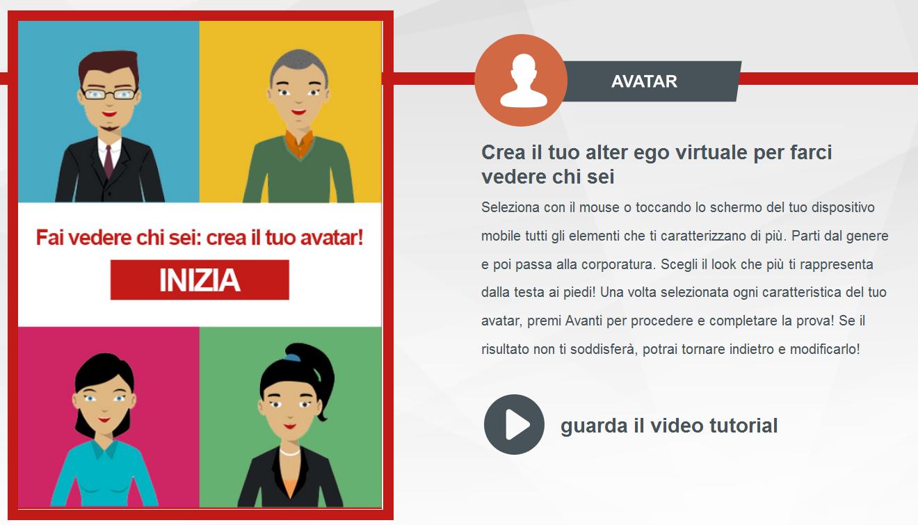 Crea avatar - Generali Job Talent