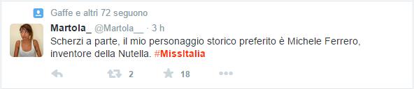 Twitter Miss Italia 2015 gaffe