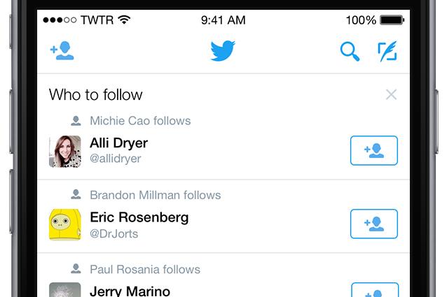 Chi seguire su Twitter - Funzionalità mobile