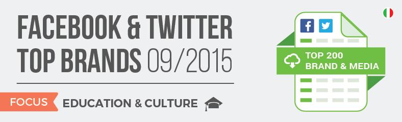 Facebook e Twitter Top Brands Cultura