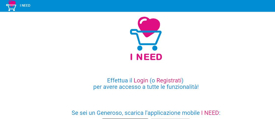 Home page di I-need