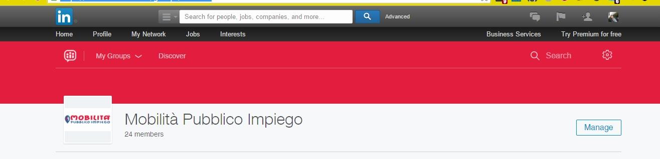 Nuovi Gruppi LinkedIn - Colore header personalizzato