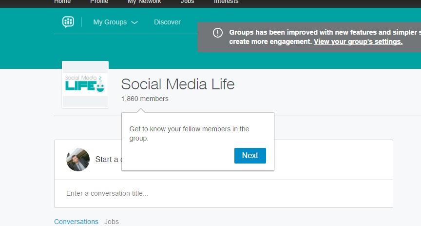 Nuovi Gruppi LinkedIn - Membri del gruppo