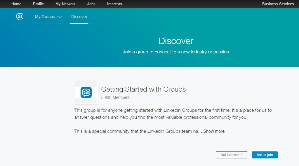 Nuovi Gruppi LinkedIn - Scopri Gruppi