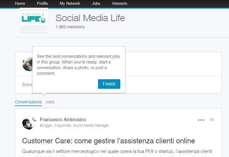 Nuovi Gruppi LinkedIn - Visualizza migliori conversazioni e offerte di lavoro