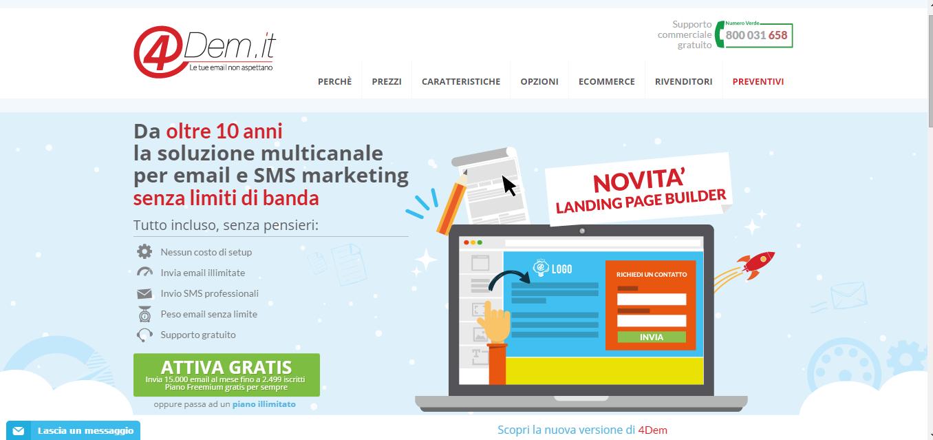 Home Page di 4Dem - Piattaforma DEM