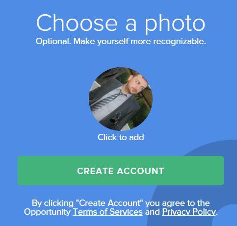 Foto di profilo su Opportunity
