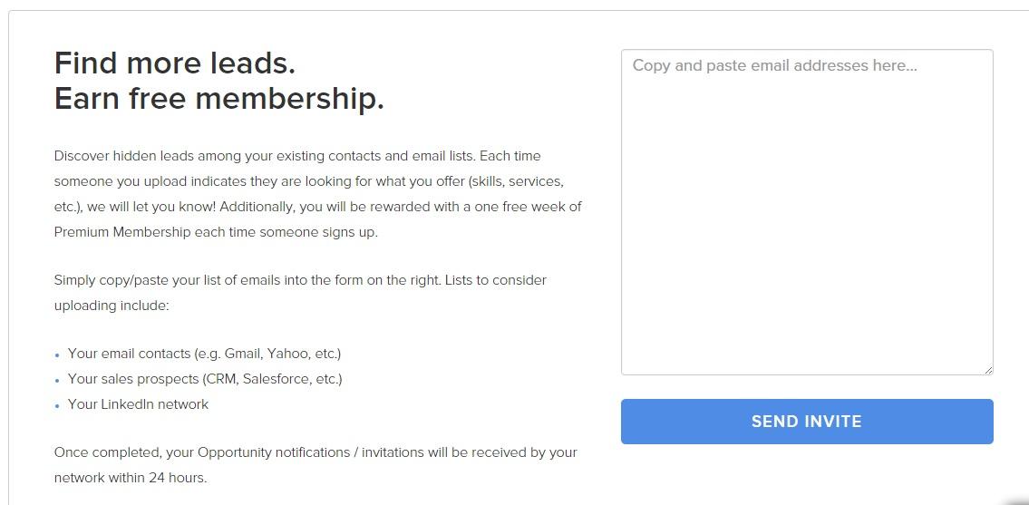 Invita Contatti Email su Opportunity