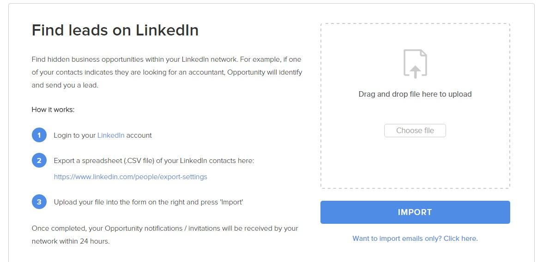 Invita Contatti LinkedIn su Opportunity