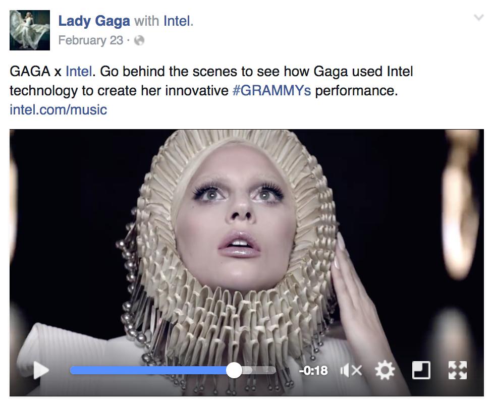 Esempio di Facebook Branded Tag
