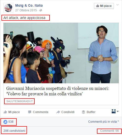 Post Facebook - Notizia Bufula Giovanni Muciaccia