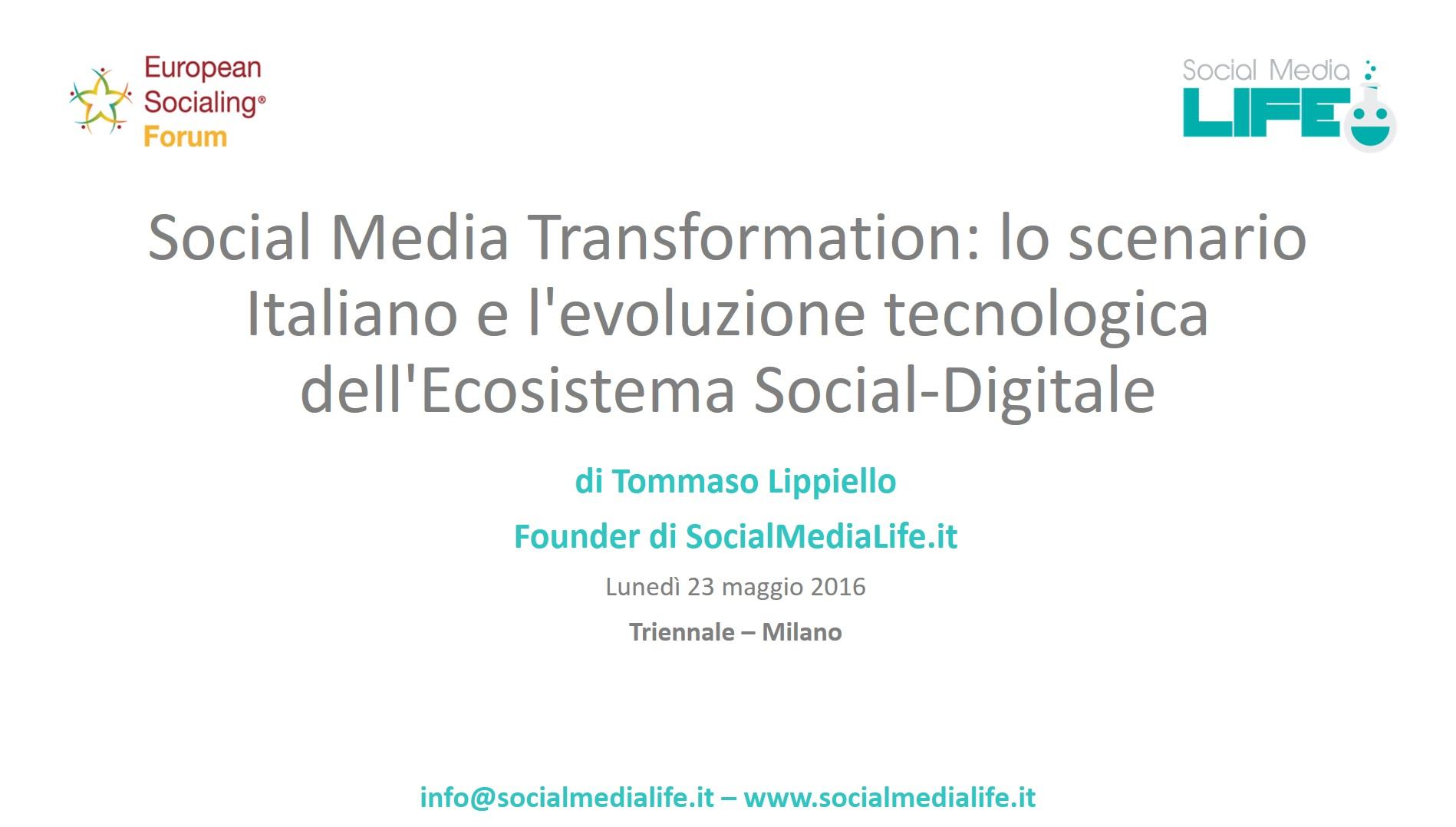 Social Media Transformation