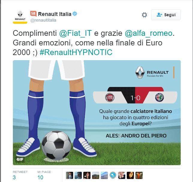 Photo of Come andare a segno su Twitter: il caso #RenaultHYPNOTIC