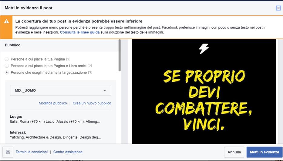 Facebook Ads - Immagini con più testo