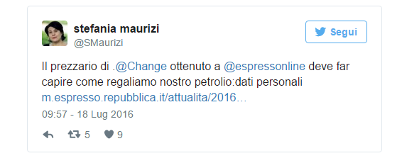 Tweet su Change.org