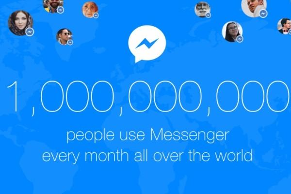 Un miliardo di utenti su Facebook Messenger