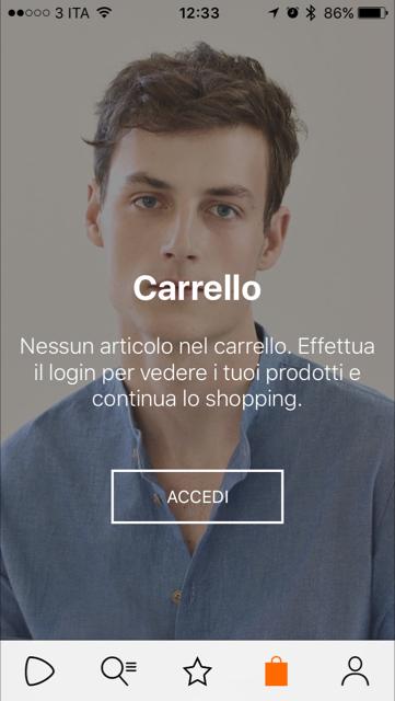 Zalando App - Carrello
