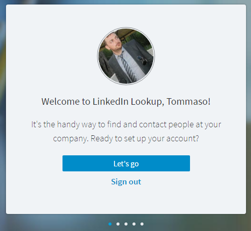 LinkedIn Lookup - Welcome