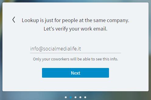 LinkedIn Lookup - Trova Coworker