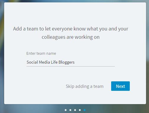 LinkedIn Lookup - Aggiungi Team di Lavoro