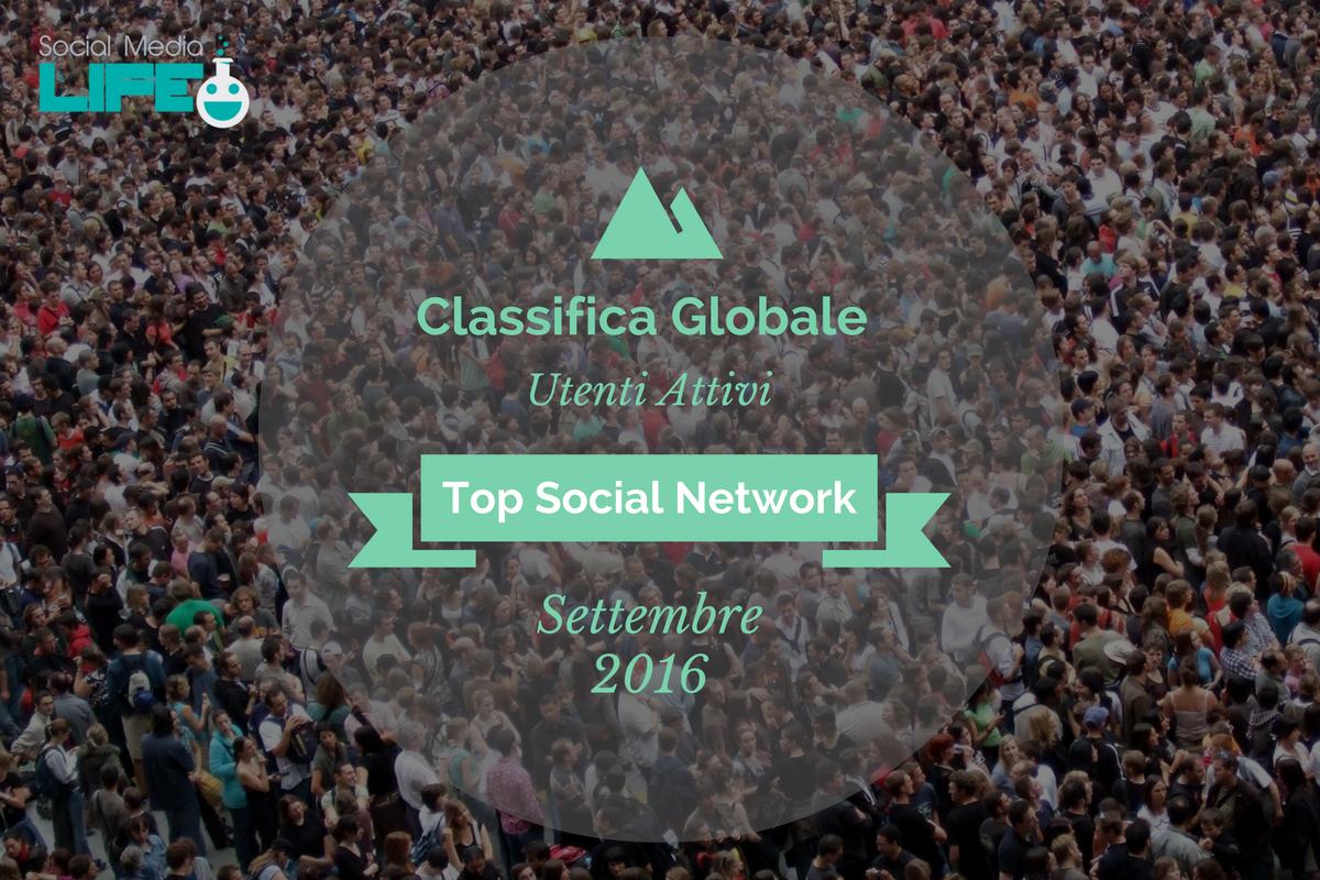Photo of I Social Network più utilizzati al mondo (Settembre 2016)