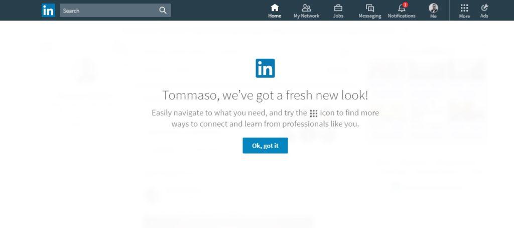 LinkedIn Nuova Versione 2017