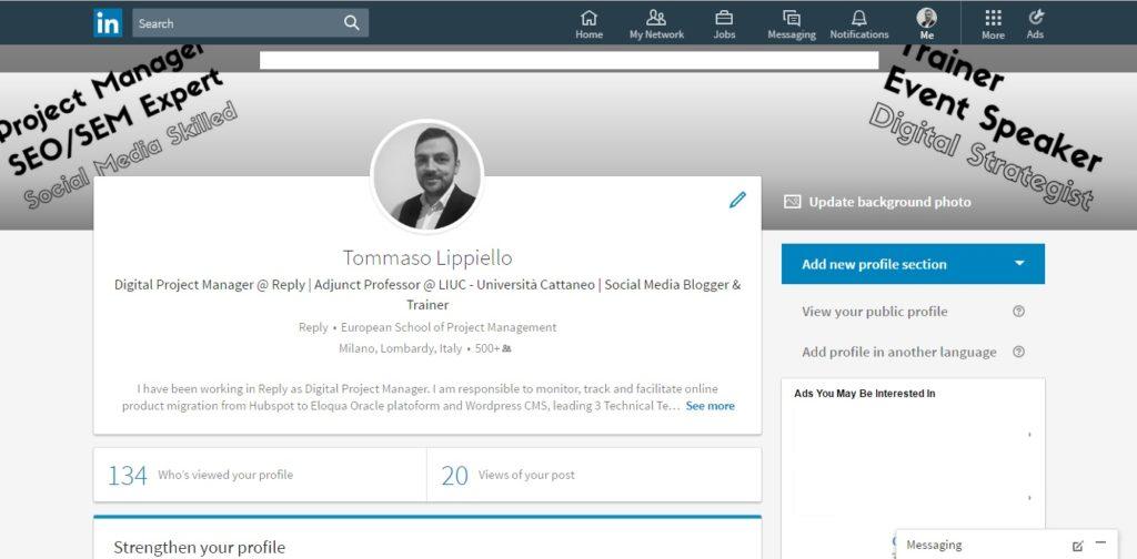 Profilo Personale - Nuovo LinkedIn 2017